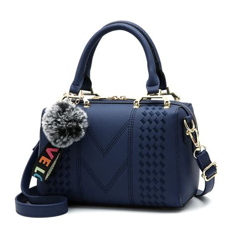 jual b99162 blue tas pom pom fashion import grosirimpor