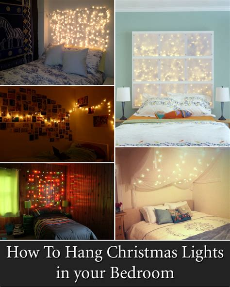 what to use to hang lights 12 cool ways to put up lights in your bedroom