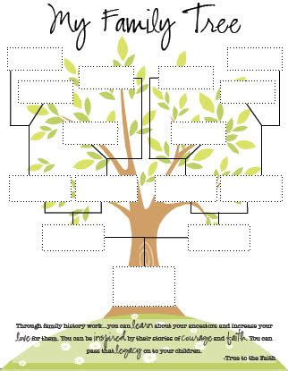 printable family tree images my family tree handout