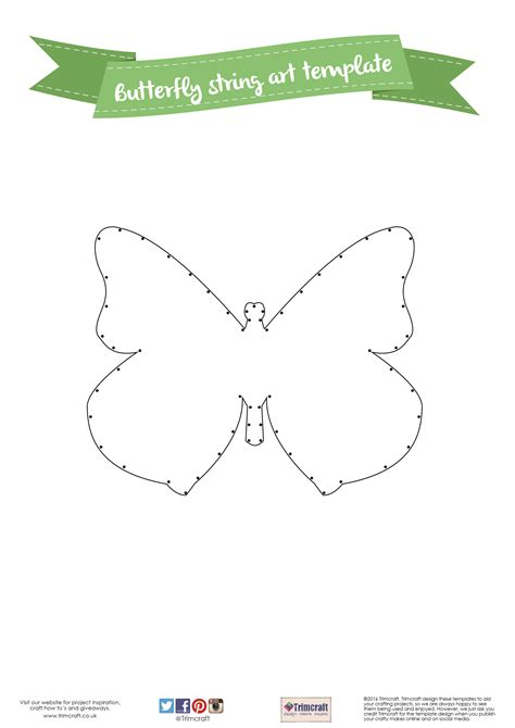 Printable String Templates - diy home d 233 cor butterfly string tutorial with free