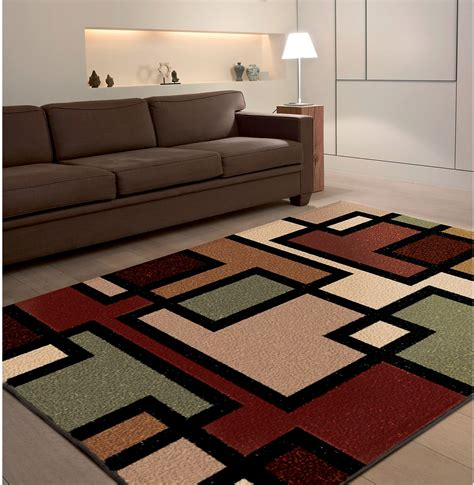 rug room living room modern living room interior design with colorful square shag area rugs also brown
