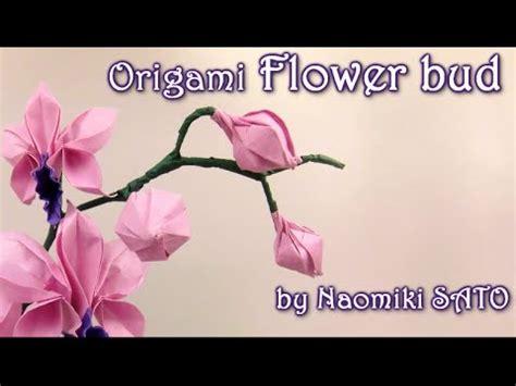 Origami Bud - origami flower bud by naomiki sato yakomoga origami