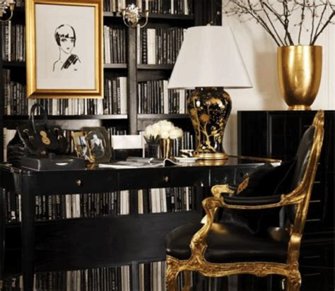 Black And Gold Interior by Black And Gold Interiors Celebrate Decorate