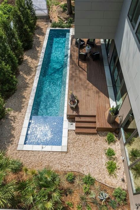 pool for a narrow space deck with no rails fabulous