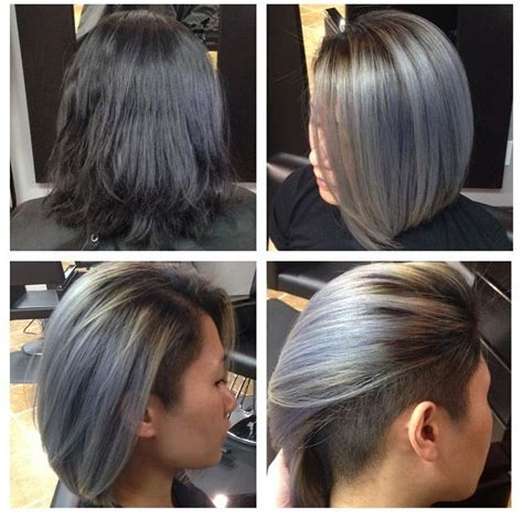 hairstyling bob mit sidecut grey undercut bob hairstyles pinterest undercut bob