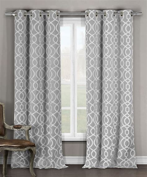 grey pattern valance modern gray and white curtains curtain menzilperde net