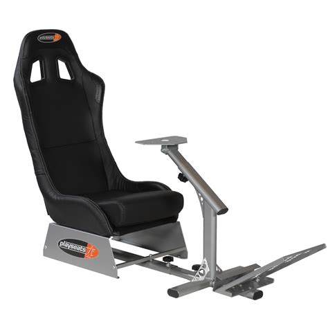 support siege baquet playseats evo si 232 ge simulation automobile noir base argent
