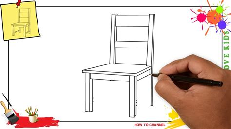 how to have comfortable how to draw a chair simple easy step by step for kids