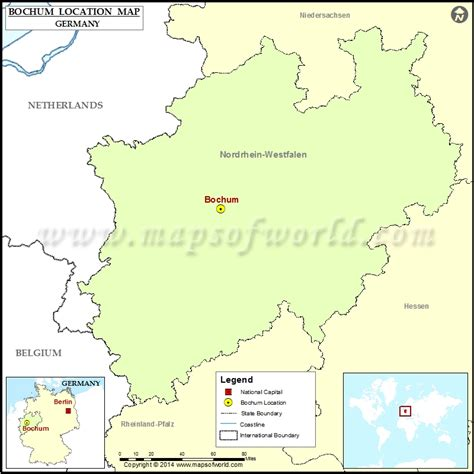 map of bochum germany where is bochum location of bochum in germany map