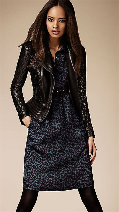 Burberry Leather Quilted Jacket by S Clothing Burberry