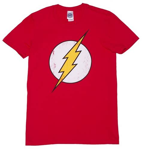 Tshirt Logo Dc White s distressed dc comics flash logo t shirt