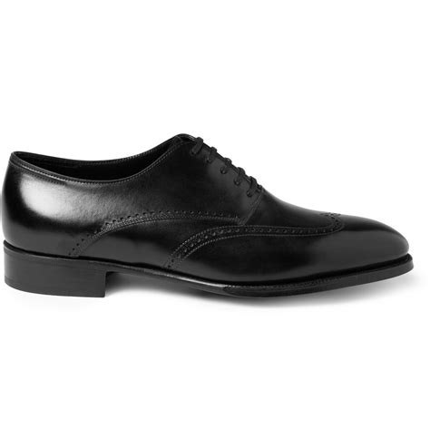 lobb oxford shoes lobb hutton leather oxford shoes in black for lyst