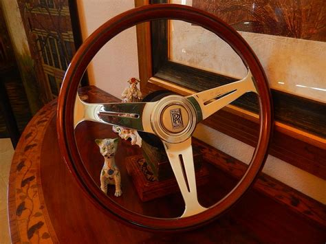roll royce wood rolls royce wood steering wheel all model 1968 89 ivory
