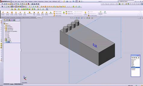 solidworks tutorial mirror solidworks features custom plane and mirror command youtube