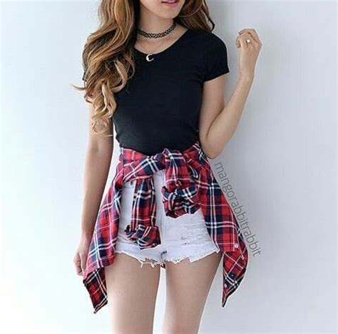 Food Best Friend Bahan Spandex Soft Fit To L 1 black shirt with white shorts and plaid shirt pictures photos and images for