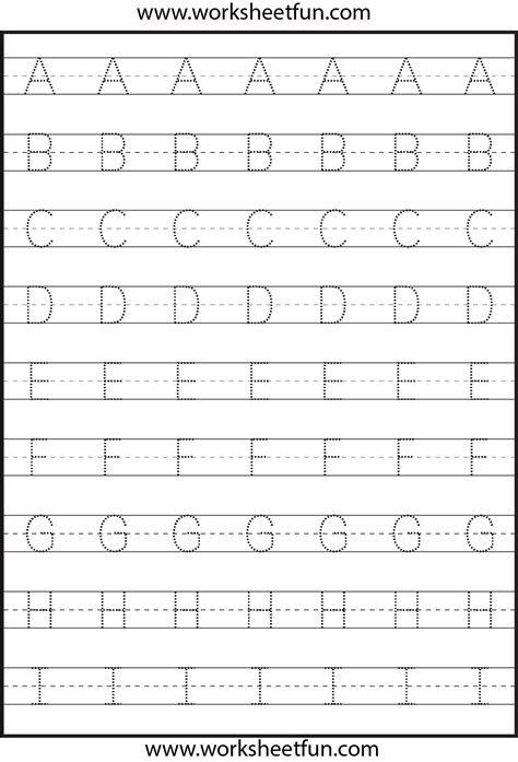 Free Printable Tracing Alphabet Letters A Z | worksheets alphabet tracing a z opossumsoft worksheets