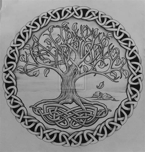 celtic tree tattoo celtic oak tree tree of with rocks by