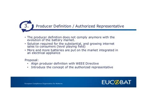 authorized biography definition eucobat presents priorities for batteries directive review