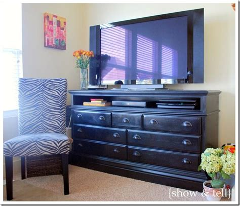 Dresser Made Into Tv Stand by Great Idea For Turning A Dresser Into A Tv Stand