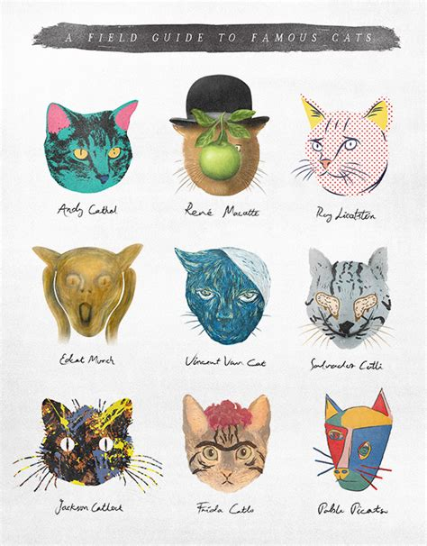 the artists guide to a field guide to famous cats janet carr