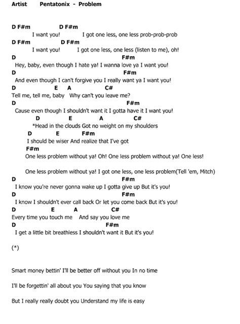 pentatonix less problem คอร ด เน อเพลง problem pentatonix chordza คอร ดเพลง