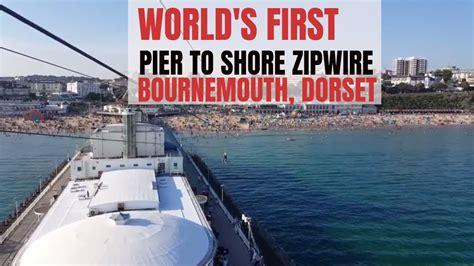 pier zip wire world s first pier to shore zip wire rockreef pierzip