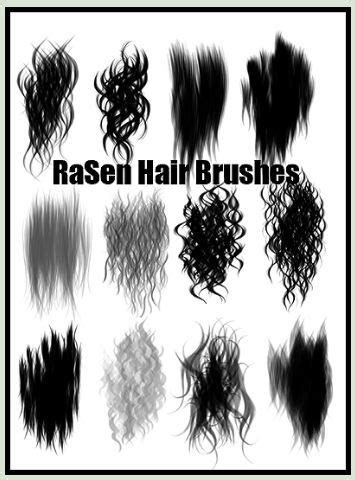 download hair brushes for gimp hair brush photoshop add ons to create hair and fur