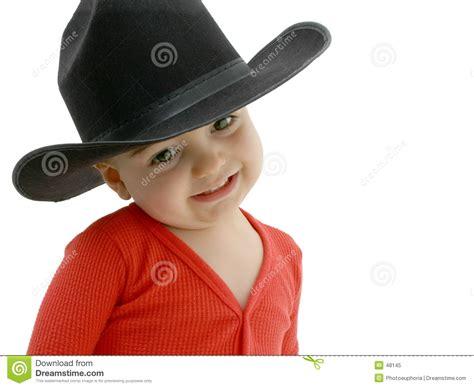 imagenes niños vaqueros beb 233 del vaquero con el sombrero negro