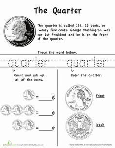 best sheets for the money 11 best images of quarter worksheets money counting