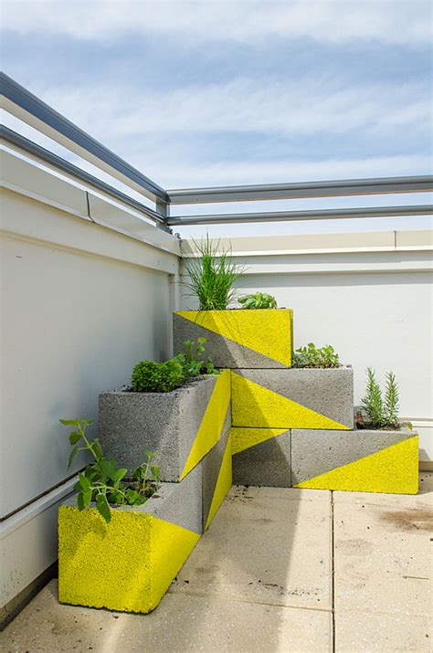 concrete block planters diy projects with cinder blocks ideas inspirations