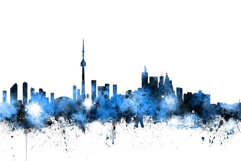 Toronto Artwork by Toronto Canada Skyline Digital Art By Michael Tompsett