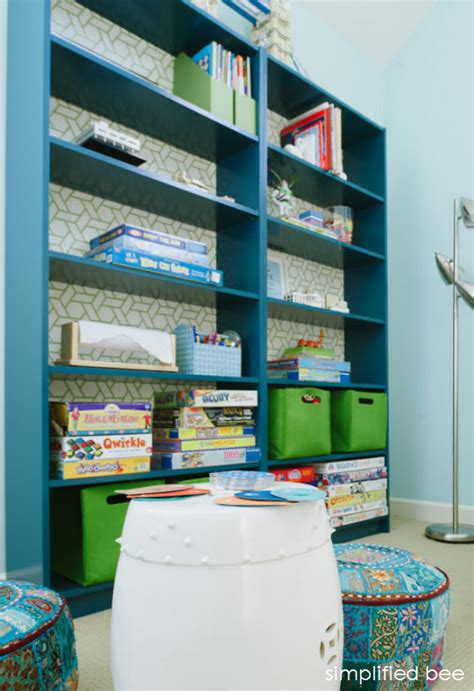 ikea billy bookcase in playroom cristin priest
