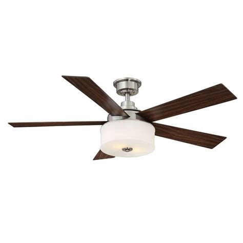 home decorators collection ceiling fan home decorators collection lindbrook 52 in indoor brushed