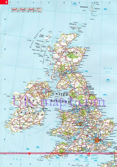 free printable uk road maps united kingdom map free large images