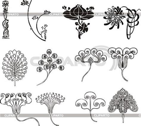 ornamente jugendstil einfache florale ornamente im jugendstil stock