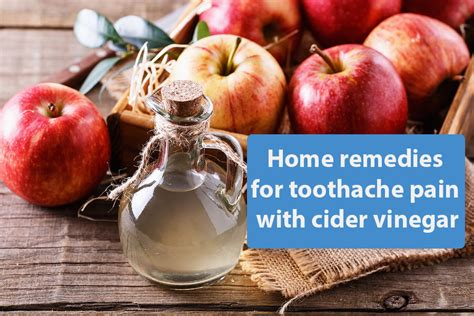 home remedies for toothache with cider vinegar