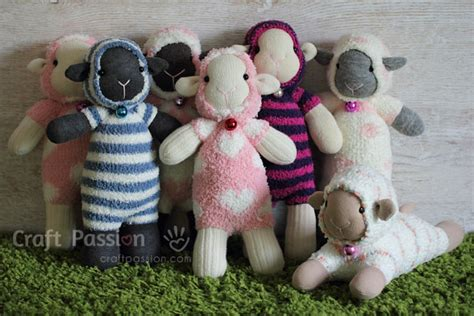 sock animals how to make sock sheep free sew pattern craft