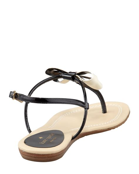kate spade bow sandals kate spade new york trendy bow sandal in black lyst