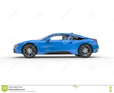 sports cars side view modern blue sports car side view stock illustration