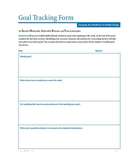 goal tracking template 10 goal tracking templates free sle exle format