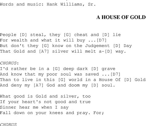 house of gold lyrics a house of gold christian gospel song lyrics and chords