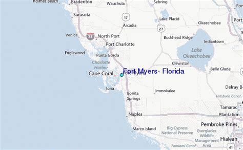 where is ft myers florida on map fort myers florida tide station location guide