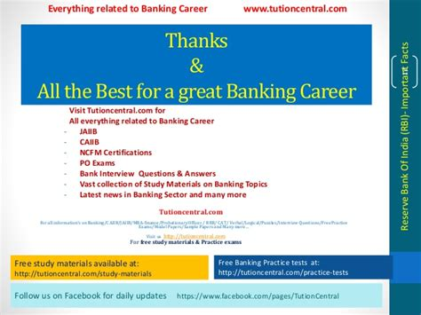 Mba Finance Study Material Free by Banking Study Materials Rbi Important Facts