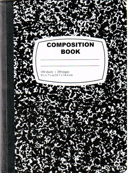 composition book template wholesale black composition notebook 100 sheets sku