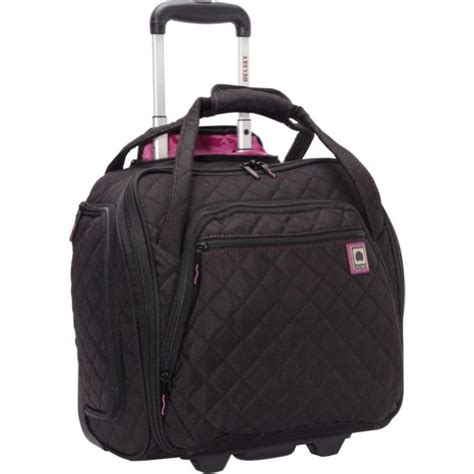 Quilted Rolling Luggage by Delsey Quilted Rolling Underseat Tote Exclusive Black Luggage Bags