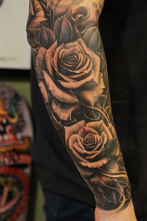 rose tattoos half sleeve best 25 sleeve tattoos ideas on