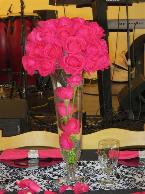 pink and black centerpieces for weddings 25 best ideas about pink centerpieces on