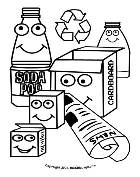 recycle coloring pages preschool recycle free coloring pages for kids printable colouring