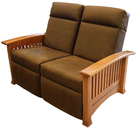 recliner modern modern mission double recliner loveseat ohio hardword