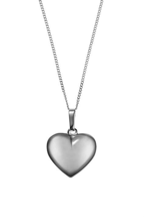 Necklaces > Baronessa Silver Heart Necklace